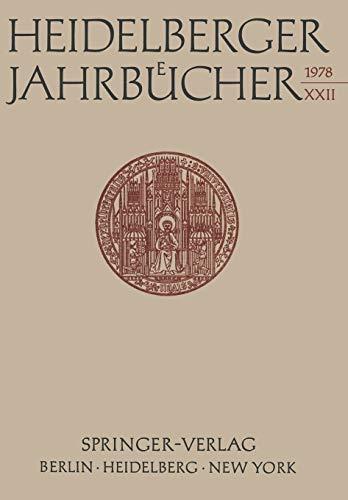 Heidelberger Jahrbucher: Universitats-Gesellschaft Heidelberg Universitats-Gesellschaft H