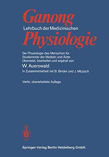 9783540089087: Lehrbuch der Medizinischen Physiologie: Die Physiologie des Menschen für Studierende der Medizin und Ärzte (German Edition)