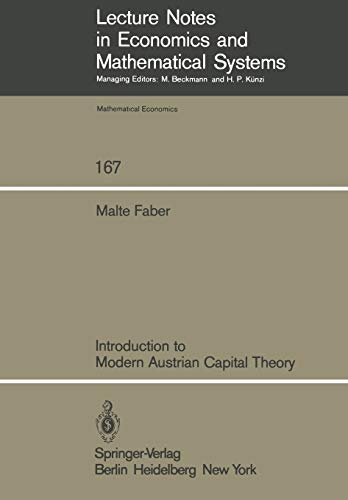 9783540091219: Introduction to Modern Austrian Capital Theory (Lecture Notes in Economics and Mathematical Systems)
