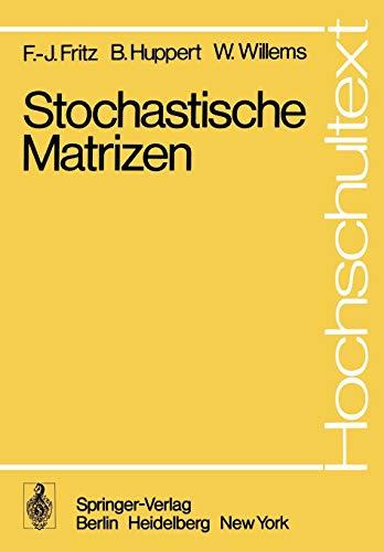 9783540091264: Stochastische Matrizen (Hochschultext)