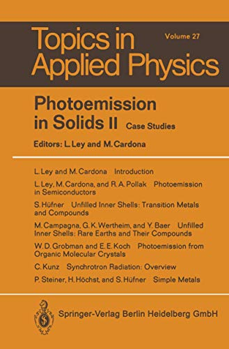 9783540092025: Photoemission in Solids II: Case Studies (Topics in Applied Physics)