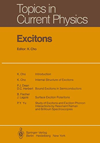 9783540095675: Excitons (Topics in Current Physics)