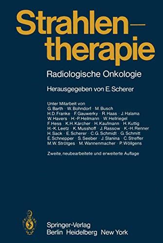 9783540097808: Strahlentherapie: Radiologische Onkologie (German Edition)