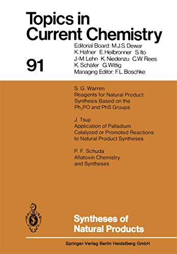9783540098270: Syntheses of Natural Products (Topics in Current Chemistry)