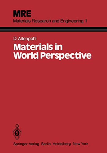 Materials in World Perspective: Assessment of Resources,: Altenpohl, D. G.