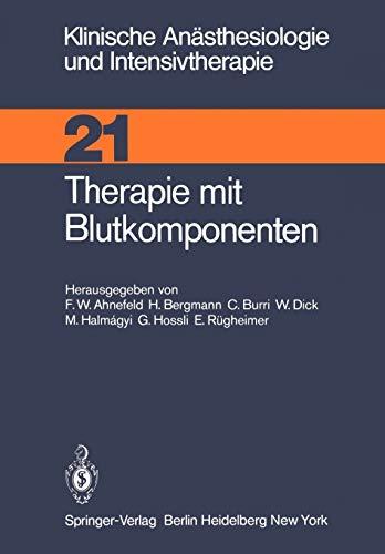 Therapie Mit Blutkomponenten
