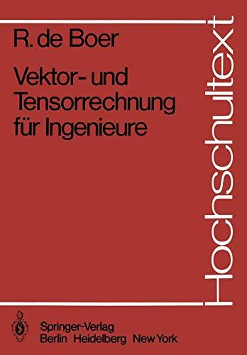9783540118343: Vektor- und Tensorrechnung für Ingenieure (Hochschultext) (German Edition)