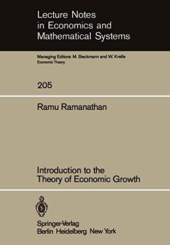 Introduction to the Theory of Economic Growth: R. Ramanathan