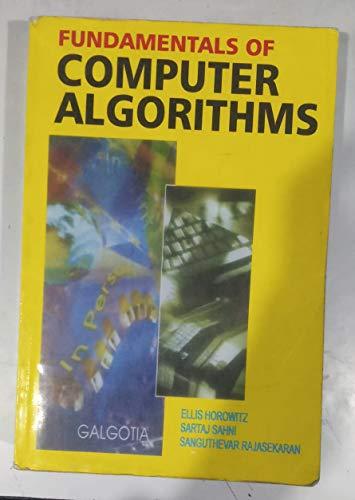 9783540120353: Fundamentals of Computer Algorithms