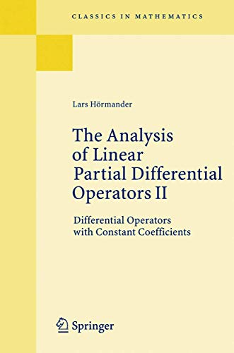 The Analysis of Linear Partial Differential Operators: H?rmander, Lars