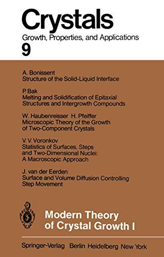 9783540121619: Modern Theory of Crystal Growth I