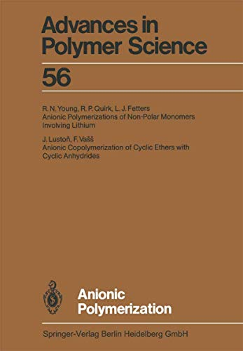 9783540127925: Anionic Polymerization (Advances in Polymer Science)