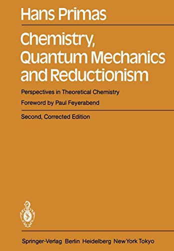 9783540128380: Chemistry, Quantum Mechanics and Reductionism: Perspectives in Theoretical Chemistry