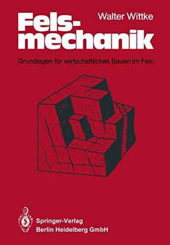 9783540130161: Felsmechanik: Grundlagen Fa1/4r Wirtschaftliches Bauen Im Fels