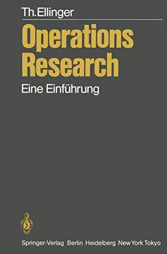 9783540131359: Operations Research: Eine Einführung (German Edition)
