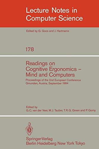 Readings on Cognitive Ergonomics, Mind and Computers: