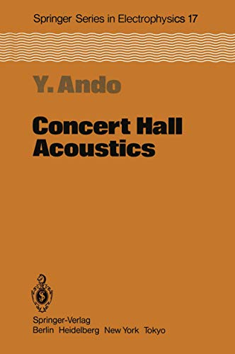 9783540135050: Concert Hall Acoustics (Springer Series in Electronics and Photonics)
