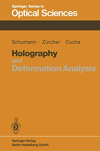 9783540135319: Holography and Deformation Analysis (Springer Series in Optical Sciences)