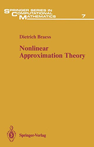 9783540136255: Nonlinear Approximation Theory