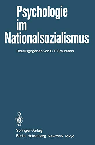 9783540138334: Psychologie im Nationalsozialismus (German Edition)
