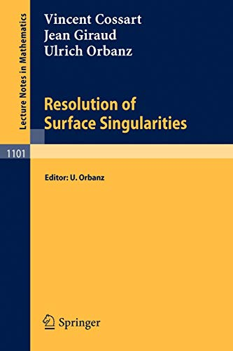9783540139041: Resolution of Surface Singularities: Three Lectures