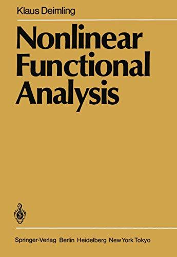 9783540139287: Nonlinear Functional Analysis