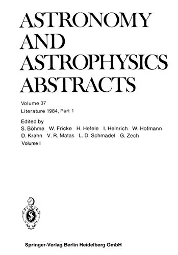 Literature 1984, Part 1 (Astronomy and Astrophysics: Böhme S., Fricke