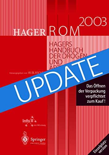 9783540149521: HagerROM 2003. Hagers Handbuch der Drogen und Arzneistoffe.: Einzelplatzversion/Windows/Up-Date (German Edition)
