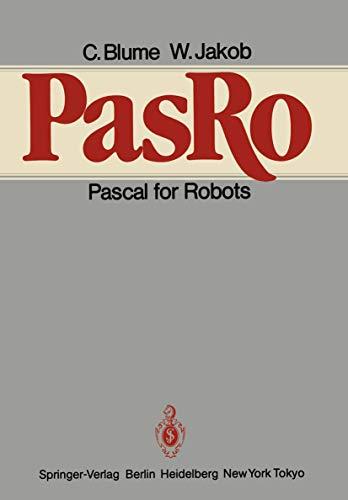9783540151203: PasRo: Pascal for Robots