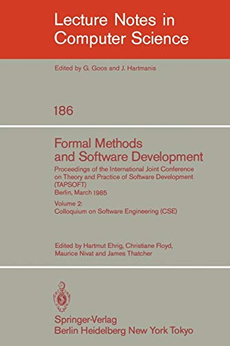 Mathematical Foundations of Software Development: Volume 2: Ehrig, Hartmut (Editor),