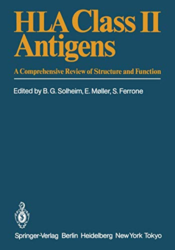 9783540153160: HLA Class II Antigens: A Comprehensive Review of Structure and Function