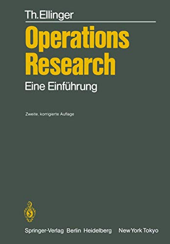 9783540157649: Operations Research: Eine Einführung (German Edition)