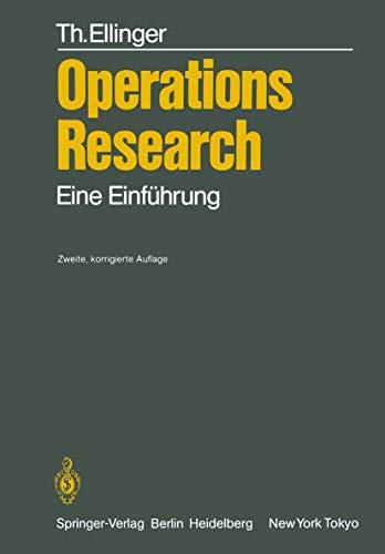 9783540158189: Operations Research: Eine Einführung (German Edition)