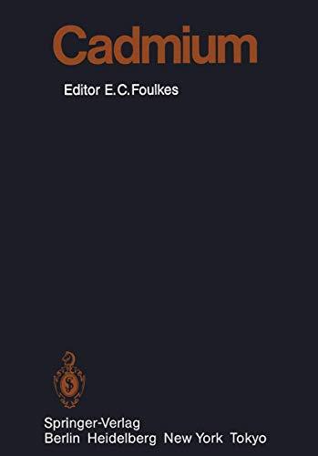 9783540160250: Cadmium (Handbook of Experimental Pharmacology)