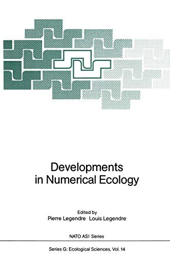 DEVELOPMENTS IN NUMERICAL ECOLOGY.: Legrande, Pierre and Louis (edits).