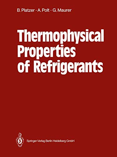 Stock image for Thermophysical Properties of Refrigerants for sale by dsmbooks