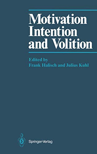 9783540161912: Motivation, Intention, and Volition