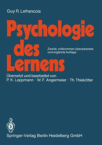 9783540161929: Psychologie des Lernens