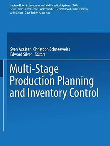 Multi-Stage Production Planning and Inventory Control: Axsäter, Sven