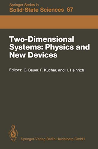 Two-Dimensional Systems: Physics and New Devices. Volume 67 in Solid-State Sciences series. Proce...