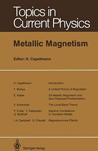 9783540168591: Metallic Magnetism I (Topics in Current Physics)