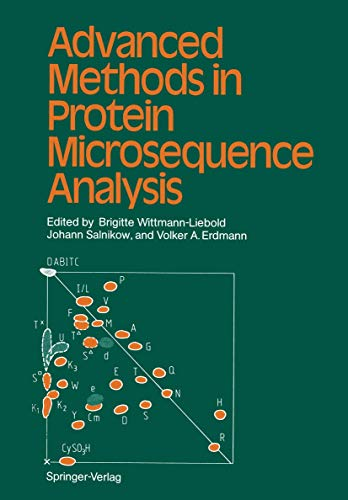 9783540169970: Advanced Methods in Protein Microsequence Analysis