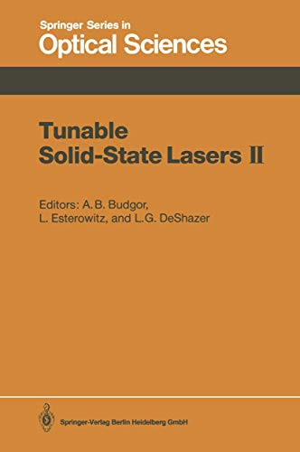 Tunable Solid-State Lasers II: Proceedings of the