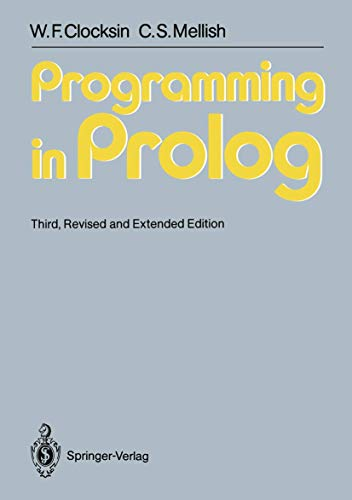 9783540175391: Programming in Prolog