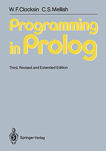 9783540175391: Programming in Prolog