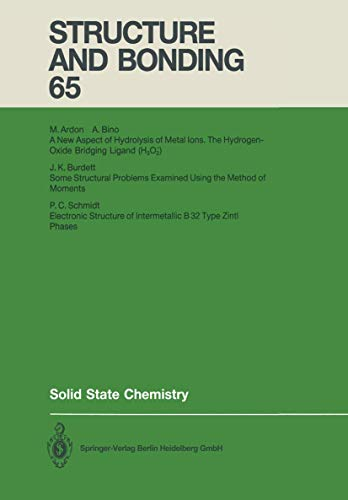 9783540175810: Solid State Chemistry (Structure and Bonding)