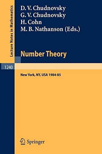 Number Theory: A Seminar held at the