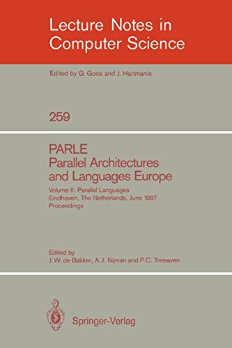 PARLE Parallel Architectures and Languages Europe: Vol.