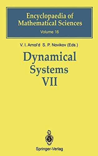 Dynamical Systems: v. 7: Arnol'D, V. I.