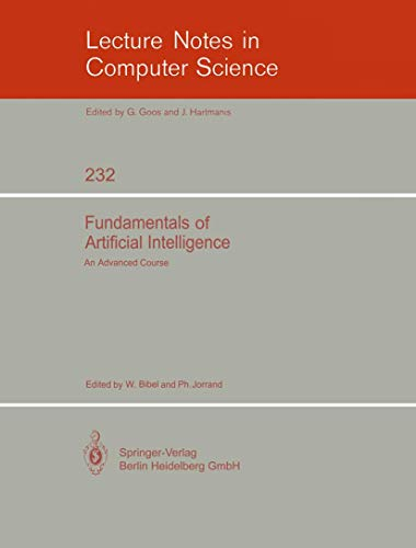 9783540182658: Fundamentals of Artificial Intelligence: An Advanced Course (Springer Study Edition)